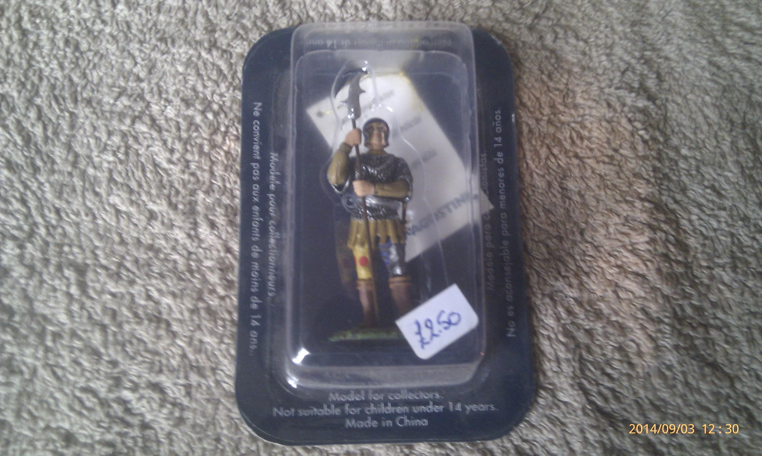 DeAgostini Metal Soldier Italian Man At Arms 15th Century SM045