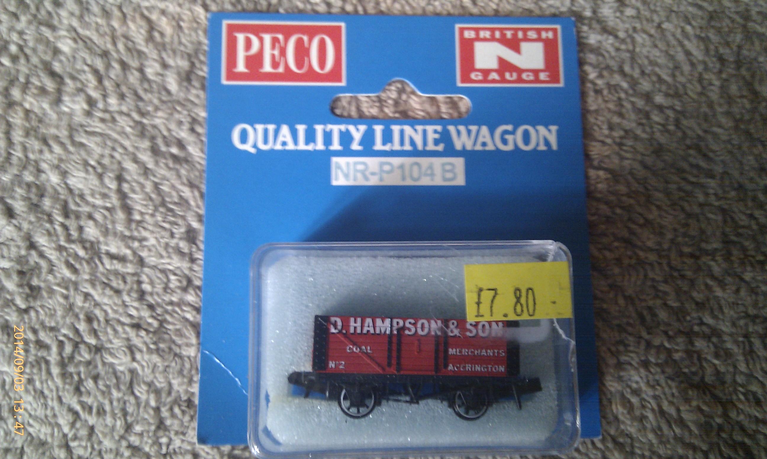 Peco Quality Line Wagon NR-P104B D Hampson & Son
