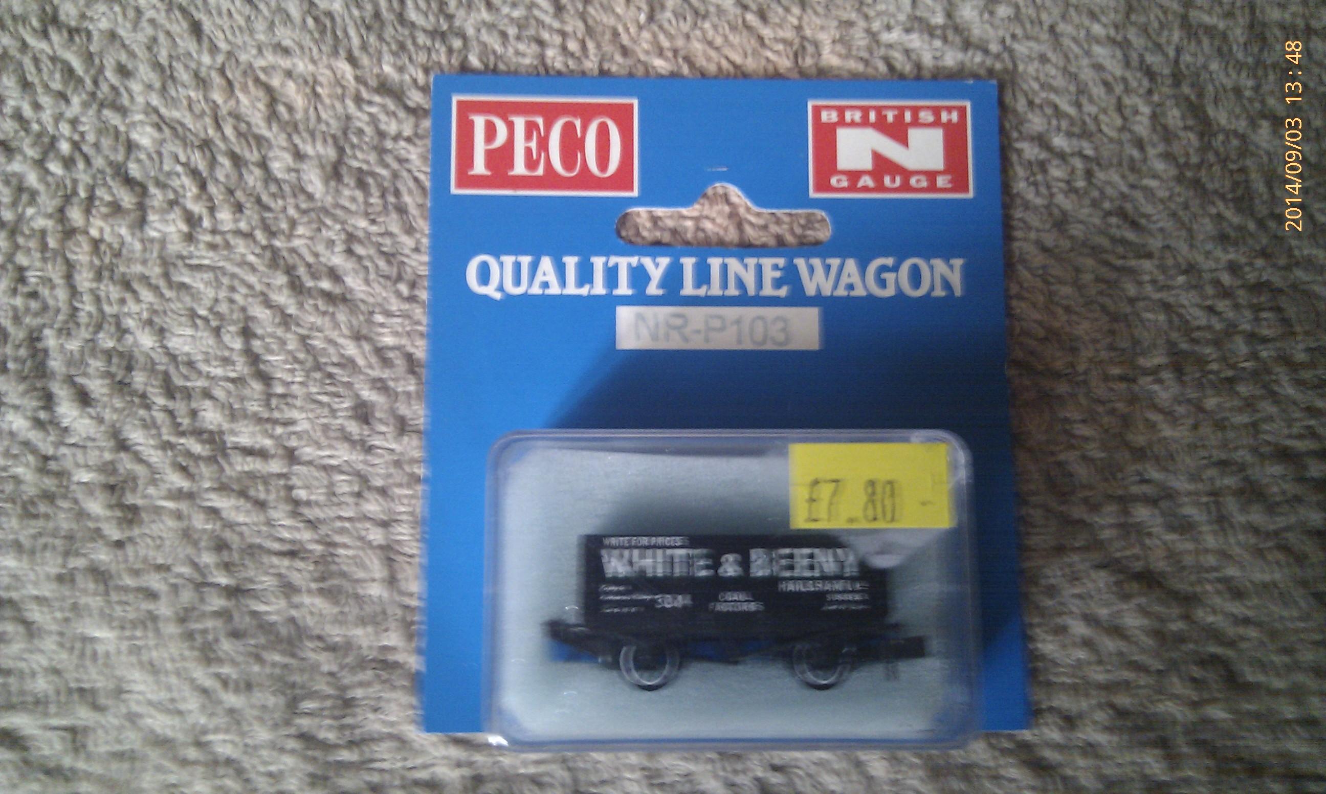 Peco Quality Line Wagon NR-P103 White & Beeny