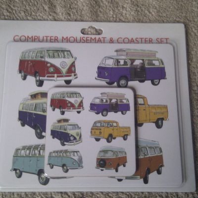 Computer Mouse Mat & Coaster Set VW Camper