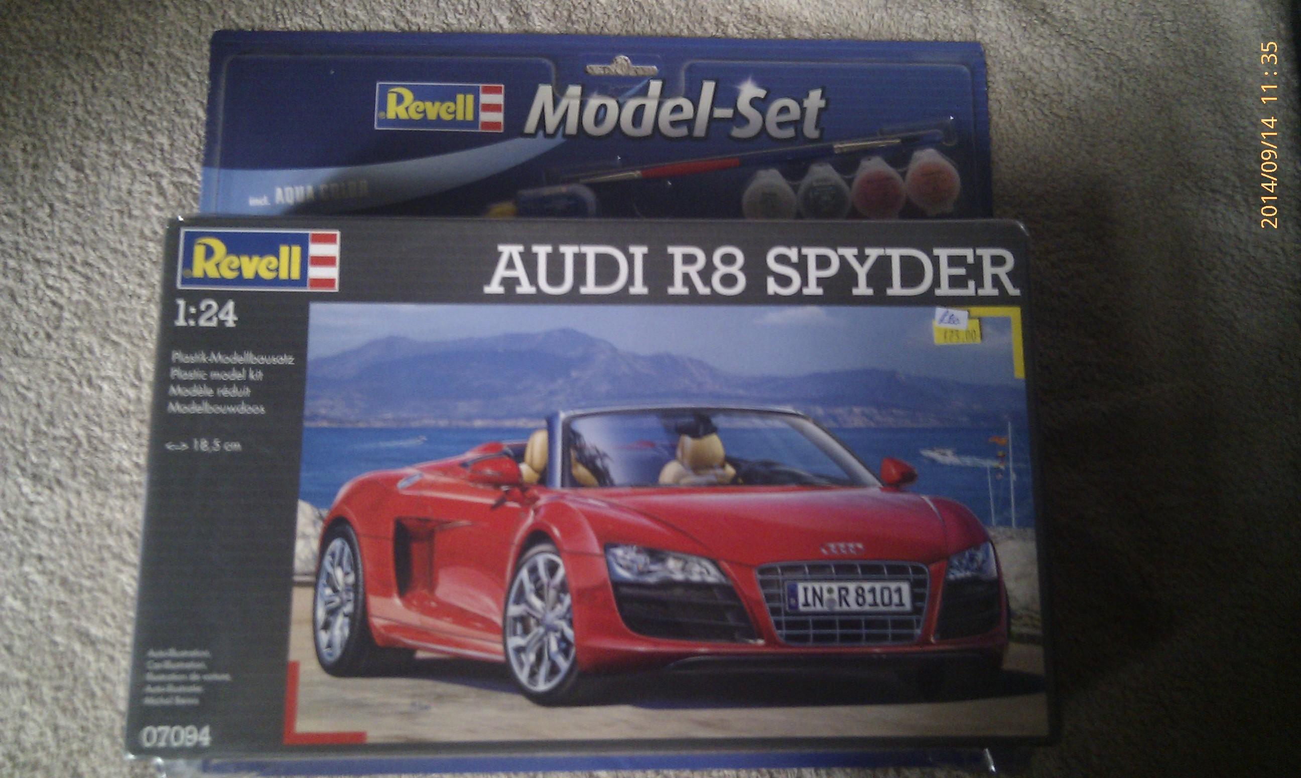 Audi R8 Spyder 1:24 Revell Model Set