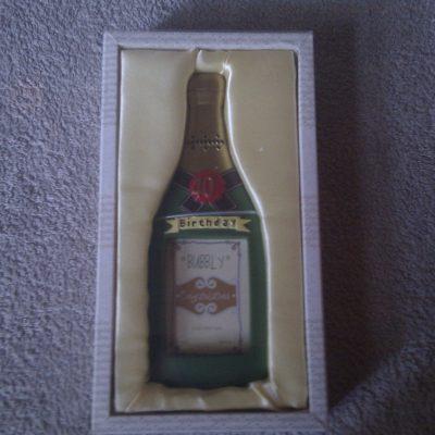 Champagne Bottle Photo Frame 40th Birthday