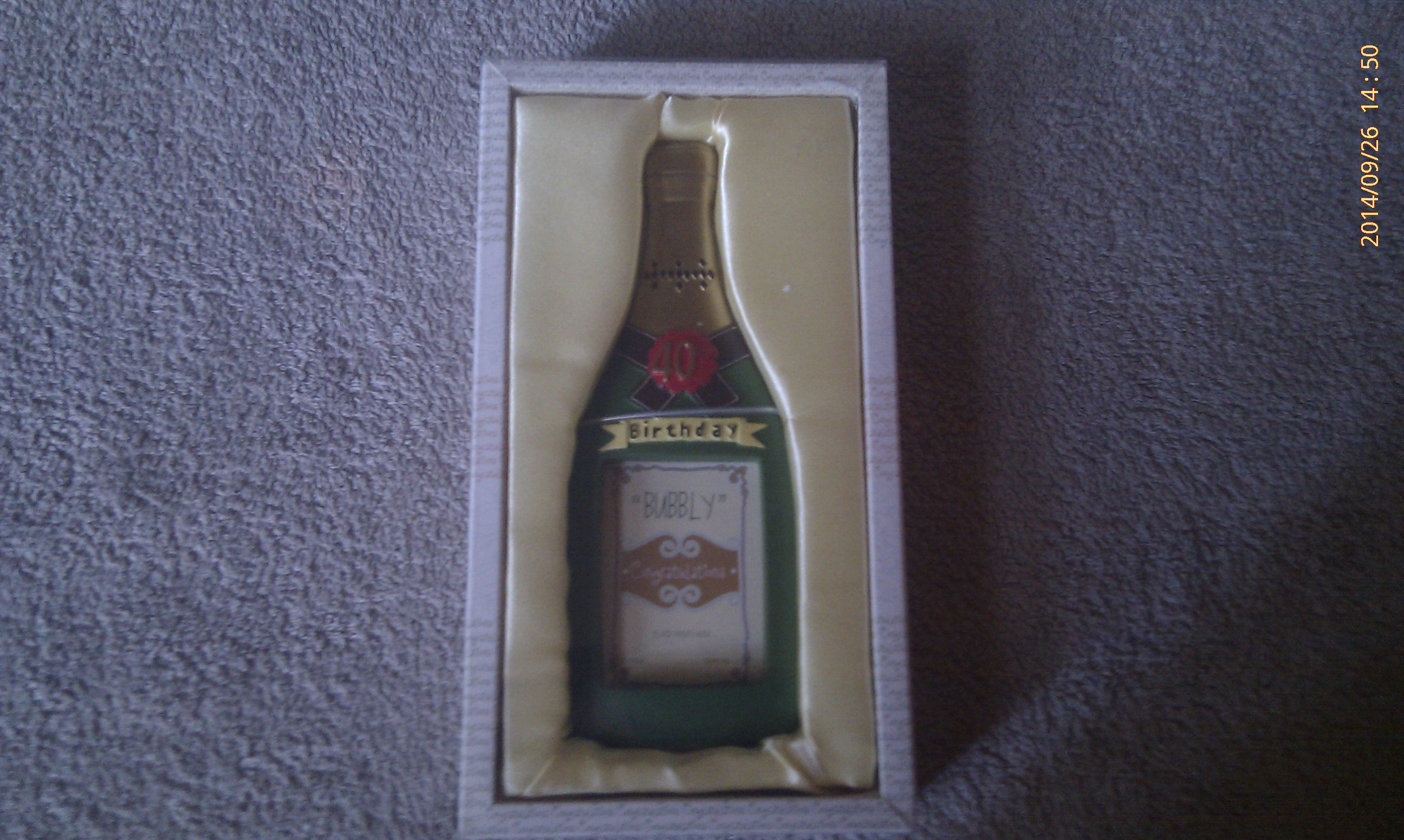 Champagne Bottle Photo Frame 40th Birthday