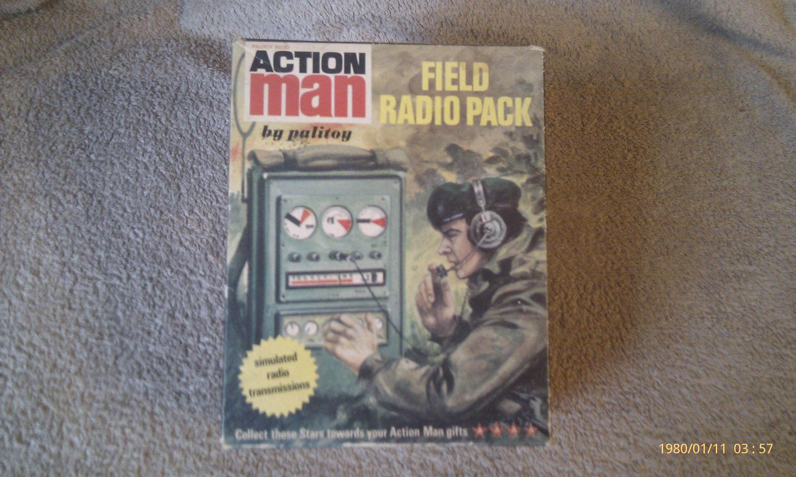 Action Man Field Radio Pack Empty Box