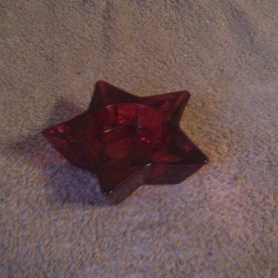 Red Tea Light Candle Holder