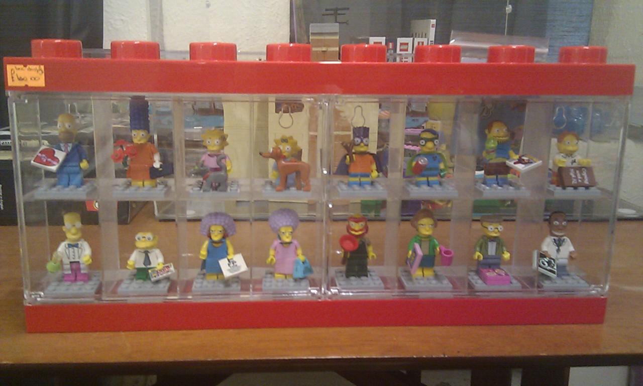 Top Lego Minifigures Simpsons Series 2 + Lego Display Case - Curios #LL39