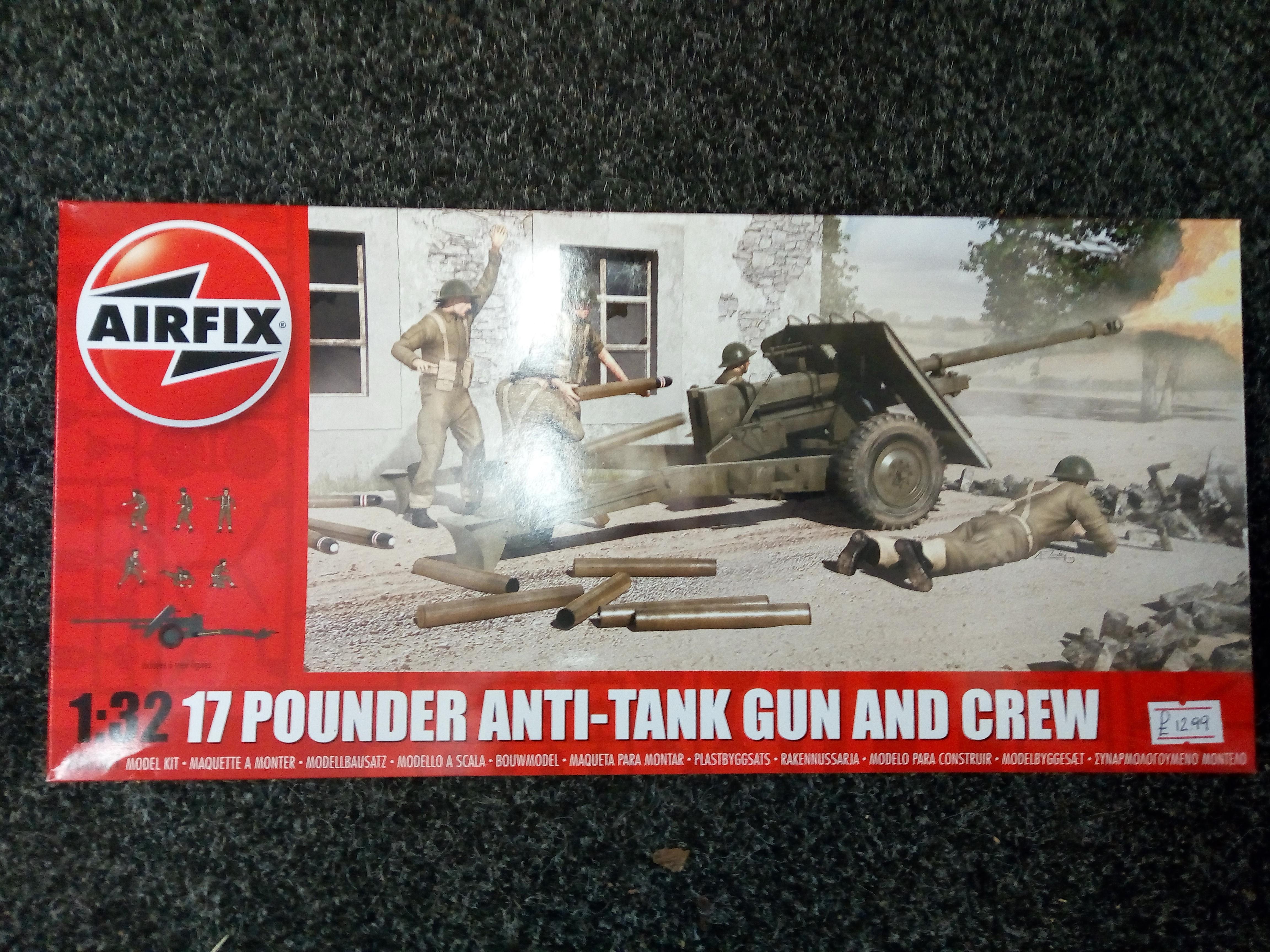 17 Pounder Anti Tank Gun & Crew
