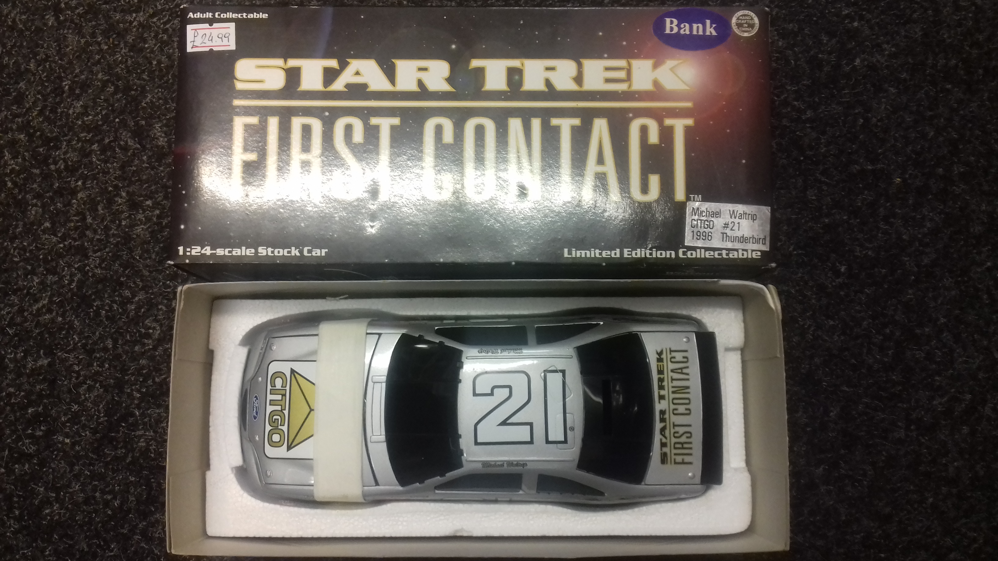 Michael Waltrip 1996 Thunderbird Star Trek First Contact Money Bank