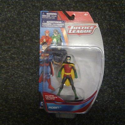 DC Comics Justice League Robin Figurine, 4″ Collectible Figure