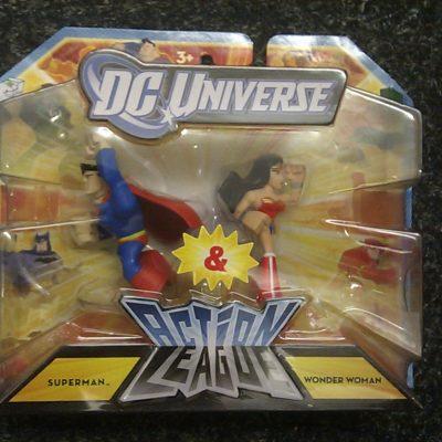 DC Universe Action League Superman vs Wonder Woman Figure 2-Pack
